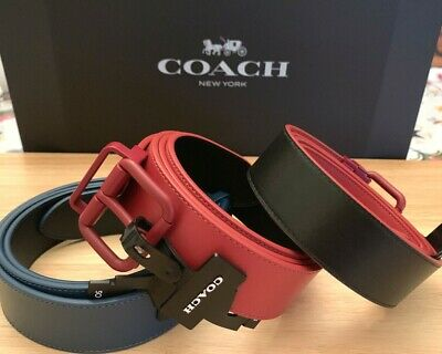 $137 • Buy Coach Roller Buckle Cut-To-Size Reversible Belt,38mm Choose Your Color!