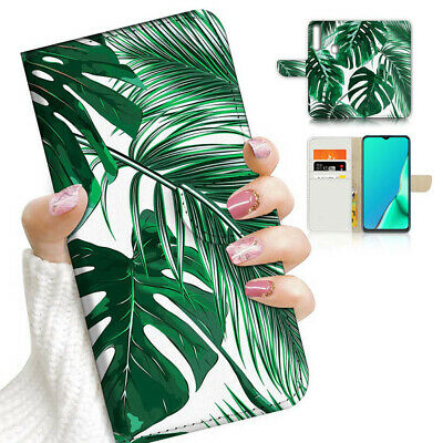 AU12.99 • Buy ( For Vivo Y12 / Y15 / Y17 ) Wallet Case Cover AJ23194 Tropical Palm