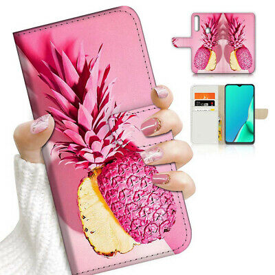 AU12.99 • Buy ( For Vivo Y12 / Y15 / Y17 ) Wallet Case Cover AJ23190 Pink Pineapple
