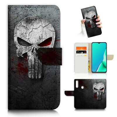 AU12.99 • Buy ( For Vivo Y12 / Y15 / Y17 ) Wallet Case Cover AJ23496 Horror Skull