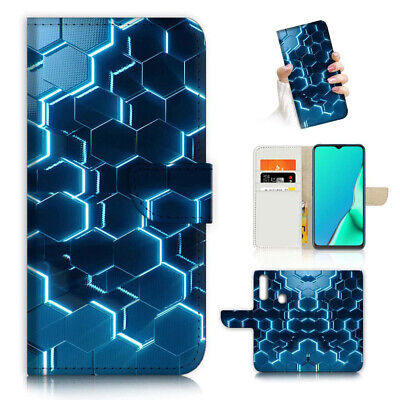 AU12.99 • Buy ( For Vivo Y12 / Y15 / Y17 ) Wallet Case Cover AJ23708 Blue Cell Abstract
