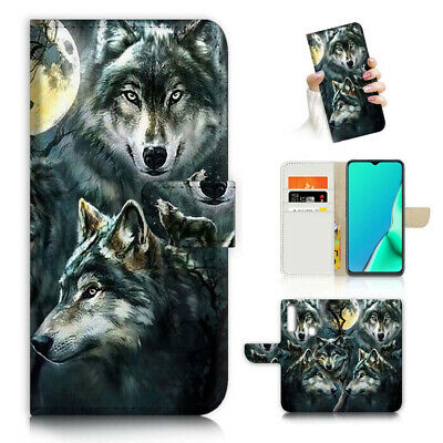 AU12.99 • Buy ( For Vivo Y12 / Y15 / Y17 ) Wallet Case Cover AJ23792 Night Wolf