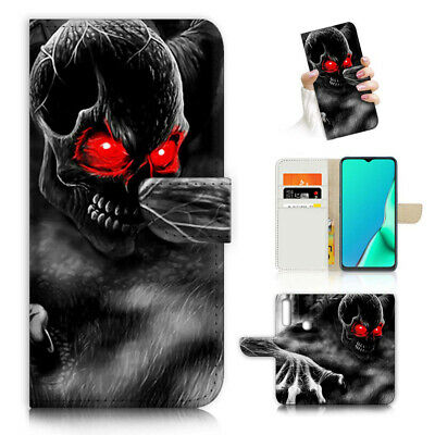 AU12.99 • Buy ( For Vivo Y12 / Y15 / Y17 ) Wallet Case Cover AJ23872 Horror Skull
