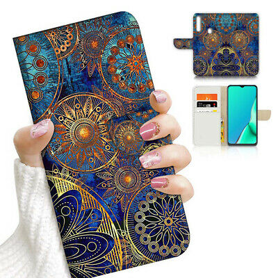 AU12.99 • Buy ( For Vivo Y12 / Y15 / Y17 ) Wallet Case Cover AJ23992 Abstract Mandala