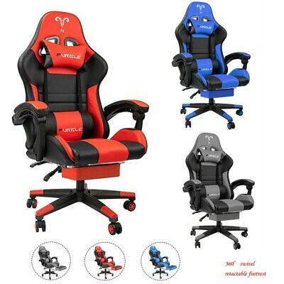 AU139.99 • Buy Furgle Gaming Office Chair Computer Chairs PU Leather Seat Executive Footrest