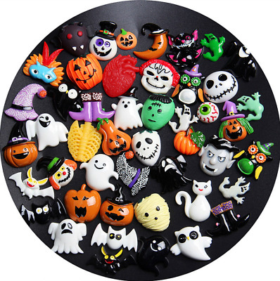 HALLOWEEN Resin Flatback Cabochon Embellishments For Decoden Craft Card Making • 5.99£