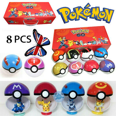 Pokemon GO Pokeball Pop-up Ball Set Pikachu Action Figures Kids Toy Gift Collect • 15.99£