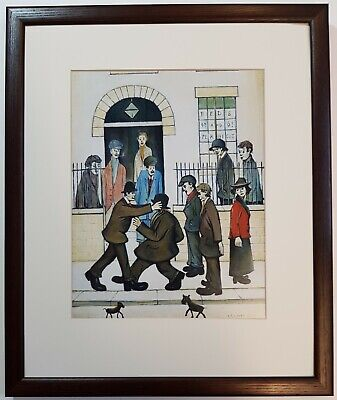L.S Lowry A FIGHT 1935 Framed Print • 22£