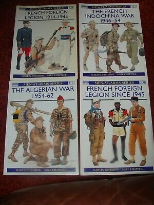 £70 • Buy MEN-AT-ARMS SERIES French Foreign Legion Books X 4 Rare
