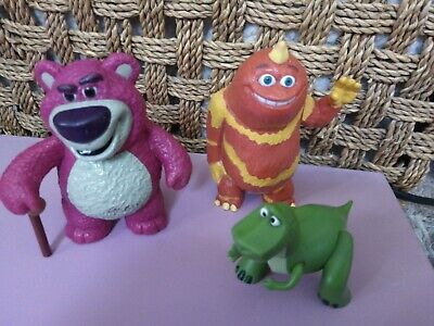 Toy Story / Monsters Inc Figures  Rex , Lotso And  George/ Cake Toppers Bundle • 10£