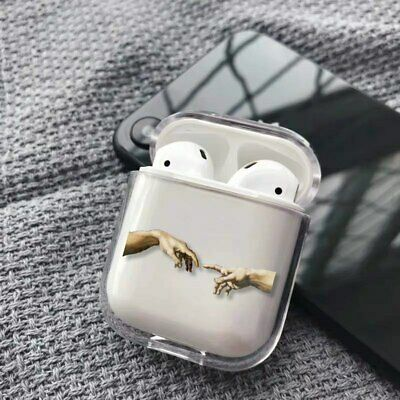 $ CDN8.43 • Buy The Creation Of Adam Michelangelo Hands Art Clear Cover Case For Apple AirPods
