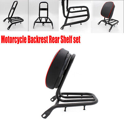 $67.89 • Buy Motorcycle Electric Motorcycle Refitted Backrest Rear Shelf Luggage Rack Durable