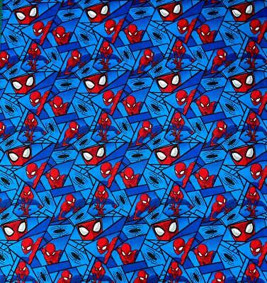 £13.50 • Buy Spiderman Superhero Marvel Comic Camelot 100% Cotton Fabric Ideal For Face Masks
