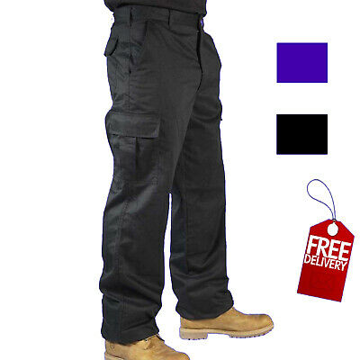 £13.95 • Buy Mens Combat Cargo Work Trousers Size 30 To 42 In Black Or Navy TROUSERS By RSW