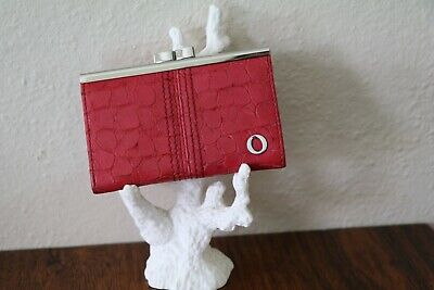 AU35 • Buy Vintage Oroton Red Genuine Leather Slim Frame Card Notes Coins Small Purse
