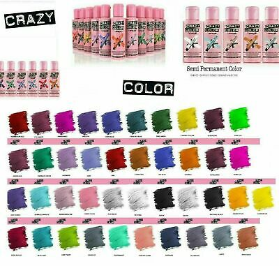 £4.99 • Buy Crazy Color Hair Colour Semi Permanent Dye Conditioning Hair 100ml **FREE POST**