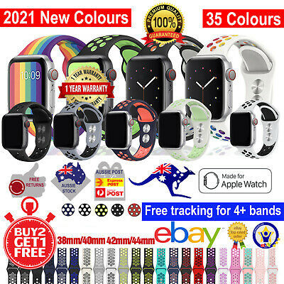 AU8.45 • Buy Silicone Nike Sport Strap For Apple Watch Band 38/40/42/44mm Series SE 6 5 4 321