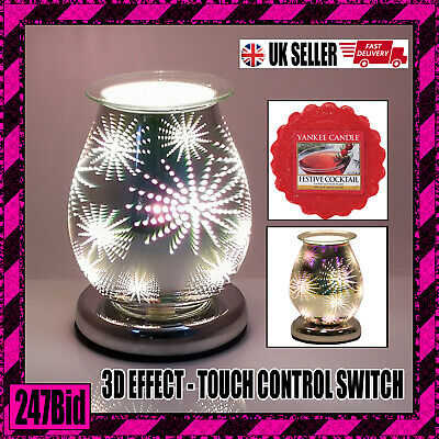 Electric Wax Melt Burner With Touch Control 3d Firework + Yankee Candle Melt • 22.99£
