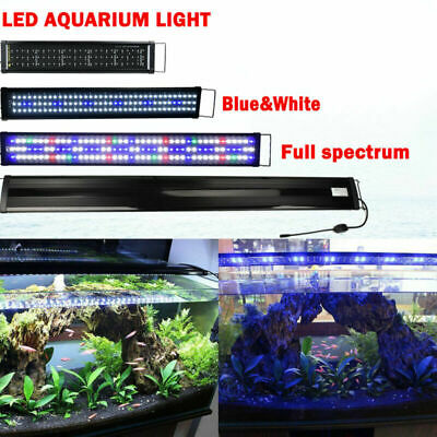 AU24.99 • Buy 30-200CM Aquarium LED Lighting 1ft/2ft/3ft/4ft/5t/6ft Marine Fish Tank Light