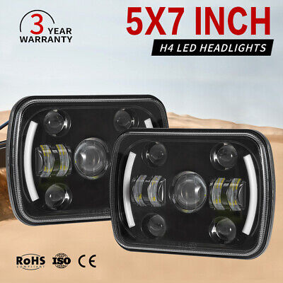 AU85.99 • Buy Pair 5x7'' 7x6'' Inch LED Headlights Hi/Lo Beam DRL For Toyota Hilux 1983-2004