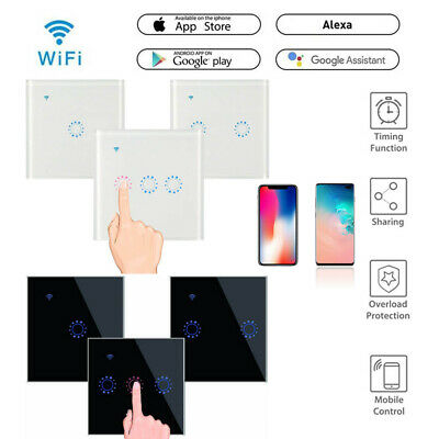 £7.99 • Buy 1/2/3 Gang Smart Home WiFi Wireless Panel Touch Wall Light Remote Control Switch