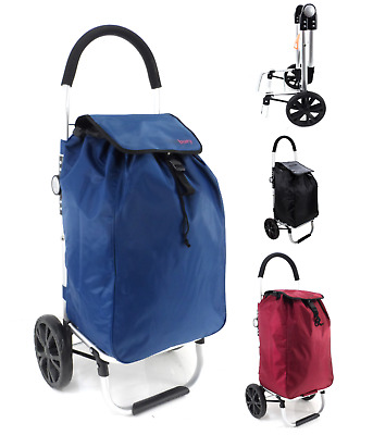 Heavy Duty 2 Wheel Folding Shopping Trolley Mobility Bag Cart Laundry Bag Case • 24.99£