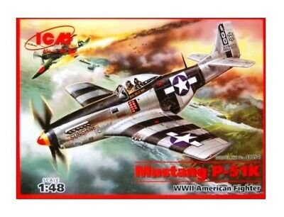 ICM 48154 1:48th Scale Mustang P-51K WWII American Fighter • 16.99£