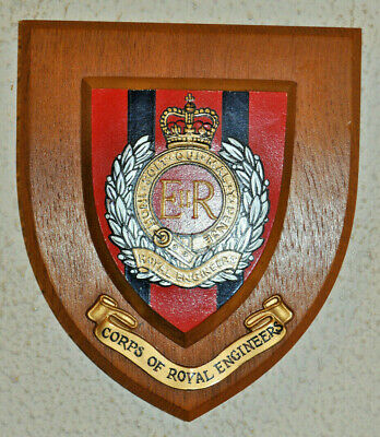 Royal Engineers Regimental Mess Wall Plaque Shield RE • 25£