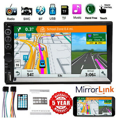 $91.43 • Buy Double 2Din Car Stereo Touchscreen Bluetooth Radio AUX USB Mirror Link For GPS