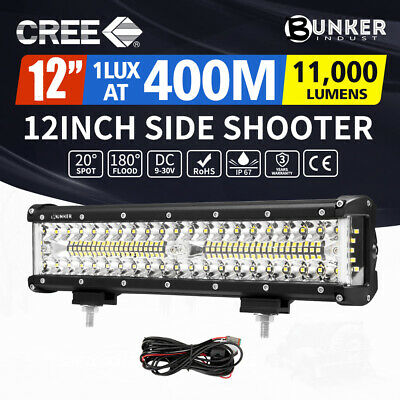 AU45.95 • Buy 12inch CREE LED Light Bar Side Shooter Combo Beam Work Driving OffRoad 4WD