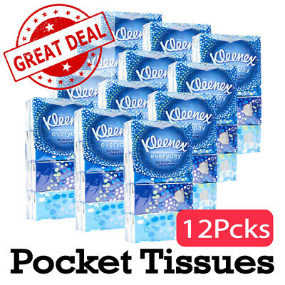 AU38.89 • Buy 12PCS LARGE Kleenex Everyday Pocket Tissues Packs BULK GREAT DEAL AU STOCK