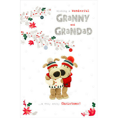 Adorable Boofle Christmas Card For Granny And Grandad • 3.79£