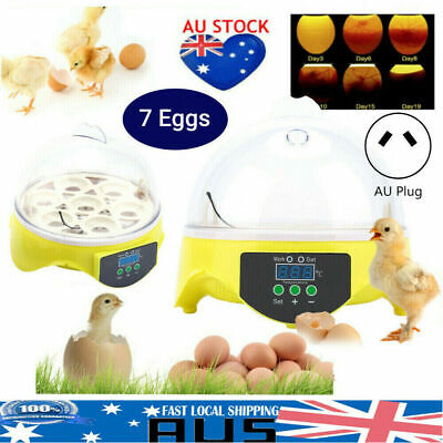 AU14.88 • Buy 7 Egg Incubator Fully Auto Digital LED Turning Chicken Duck Hatcher Poultry NEW