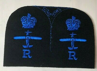 WRNS Womens Royal Naval Service Aircraft Radio Radar Badge Patch Uncut Pair • 14.98£