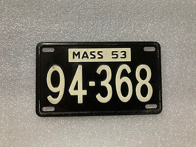 $10 • Buy 1953 State Of Massachusetts License Plate MA Bicycle Mini Plate?