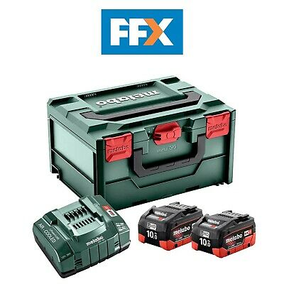 £317.55 • Buy Metabo 685142000 18V 2x10.0Ah Batteries + ASC 145 Charger Set In A Meta-BOX Case