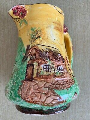 Vintage Price Bros. Cottage Ware Jug  - Hand Painted - Thatched Cottage • 10£