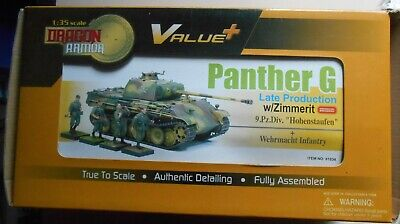 DRAGON VALUE +1 35th 61034 PANTHER G LATE ZIMMERIT & FIGURES IDEM TAMIYA REVELL • 109.52£