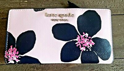 $ CDN73.99 • Buy NWT Kate Spade Cameron Grand Flora Stacy Bifold Wallet Floral Pink WLRU6132