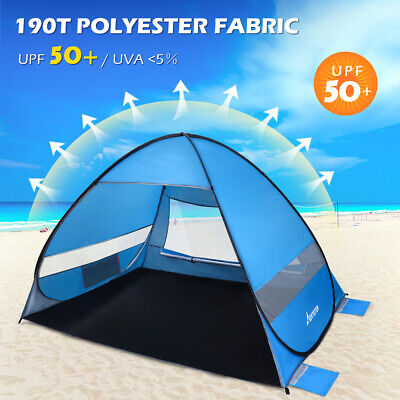 AU46.59 • Buy Portable Pop Up Beach Tents Tent Canopy Sun Shade Shelter Camping Fishing Hiking