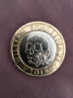 Rare 2 Pound Coin Shakespeare  'Tragedies' With Confirmed Inscription Error. • 50£