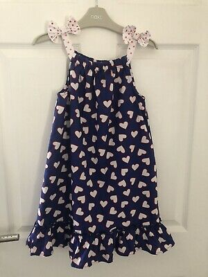 Debenhams Blue Zoo  Dress Age 8 Blue White Ref Heart Print • 2£