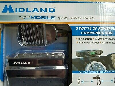 $ CDN141.69 • Buy New Midland Micro Mobile Gmrs 2-way Radio Emergency Survival Prep  /15 Channels