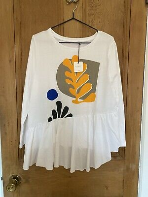 $ CDN22.89 • Buy Beaumont Organic 100% Cotton Tshirt Womens Frilled Flare Sleeve XS Anthropologie