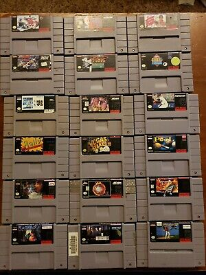 $ CDN26.36 • Buy Snes Lot 18 Super Nintendo Games