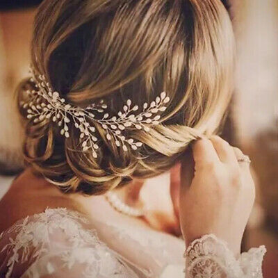 $ CDN5.16 • Buy Bridal's Wedding Pearl Hair Comb Headdress Women Hair Accessories