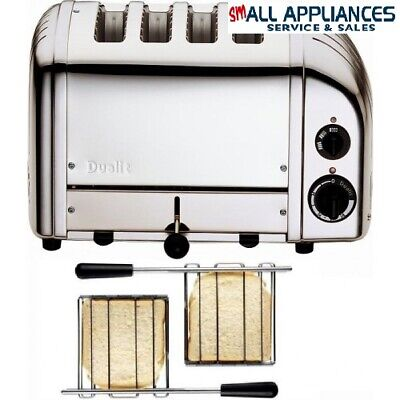 AU515 • Buy Dualit Toaster 4 Slice Polished Stainless 42174 With 2 Sandwich Cages Heidelberg