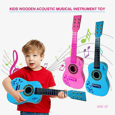 Childrens Guitar Childs Kids Wooden Plastic Acoustic Musical Instrument Toy • 14.89£