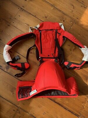 Baby Carrier With Hip Seat Red • 5£