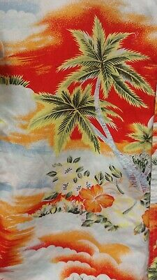 Atlantic Bay White Mix Tropical Short Sleeve Shirt Size Small Charity Sale • 4.49£